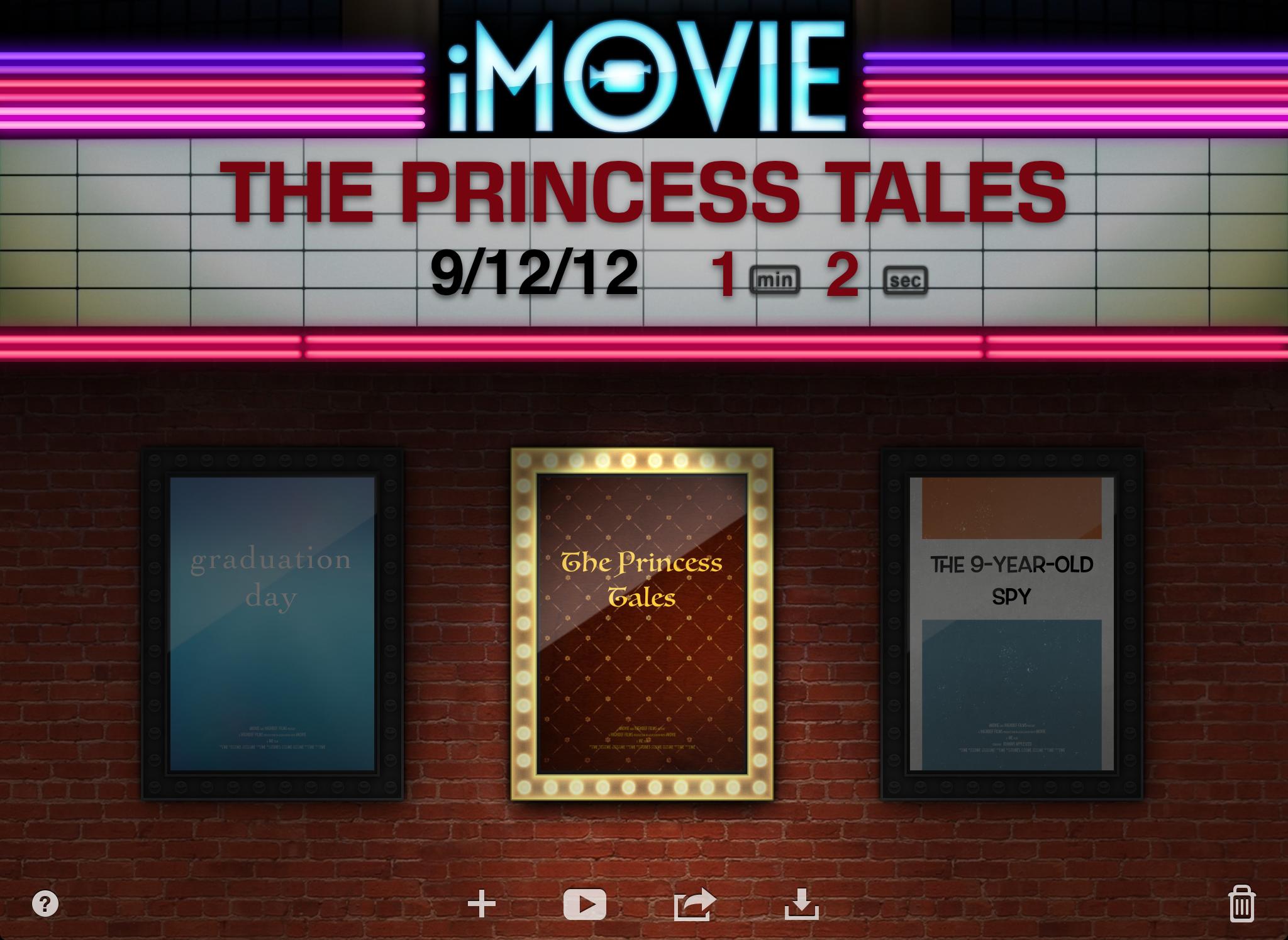 Screenshot do iMovie para iOS