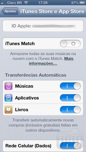 Restrições - Apple ID