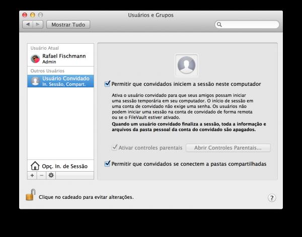 Compartilhamento de arquivos no Mac OS X