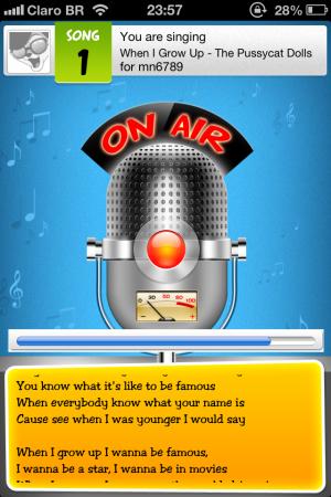 Screenshot do Just Sing It! para iOS
