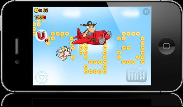 Screenshot do Run Cow Run para iOS