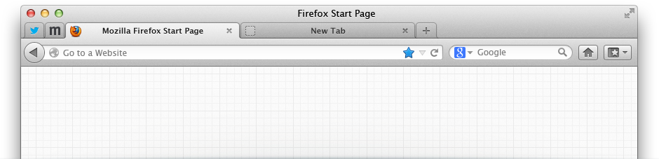 Janela do Mozilla Firefox