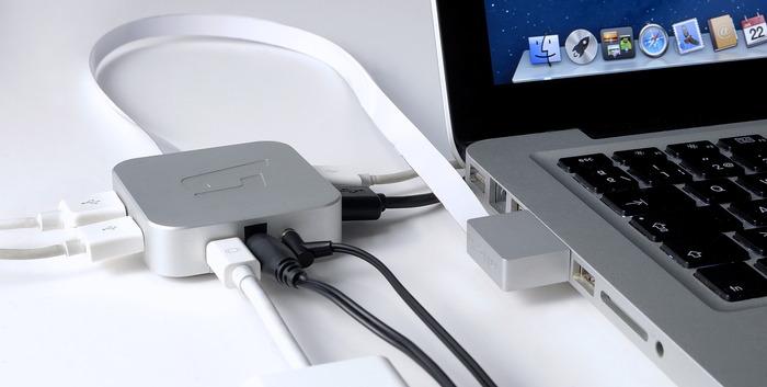 MacDock conectado a um MacBook