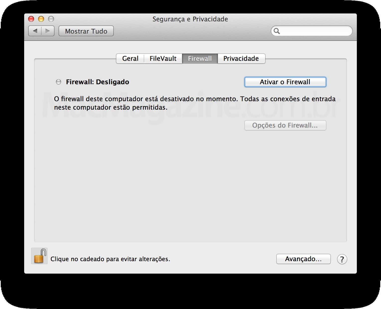 Firewall do Mac OS X
