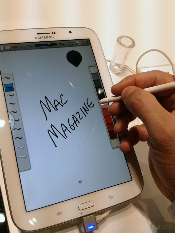 MacMagazine no Mobile World Congress 2013 - Samsung Galaxy Note 8.0