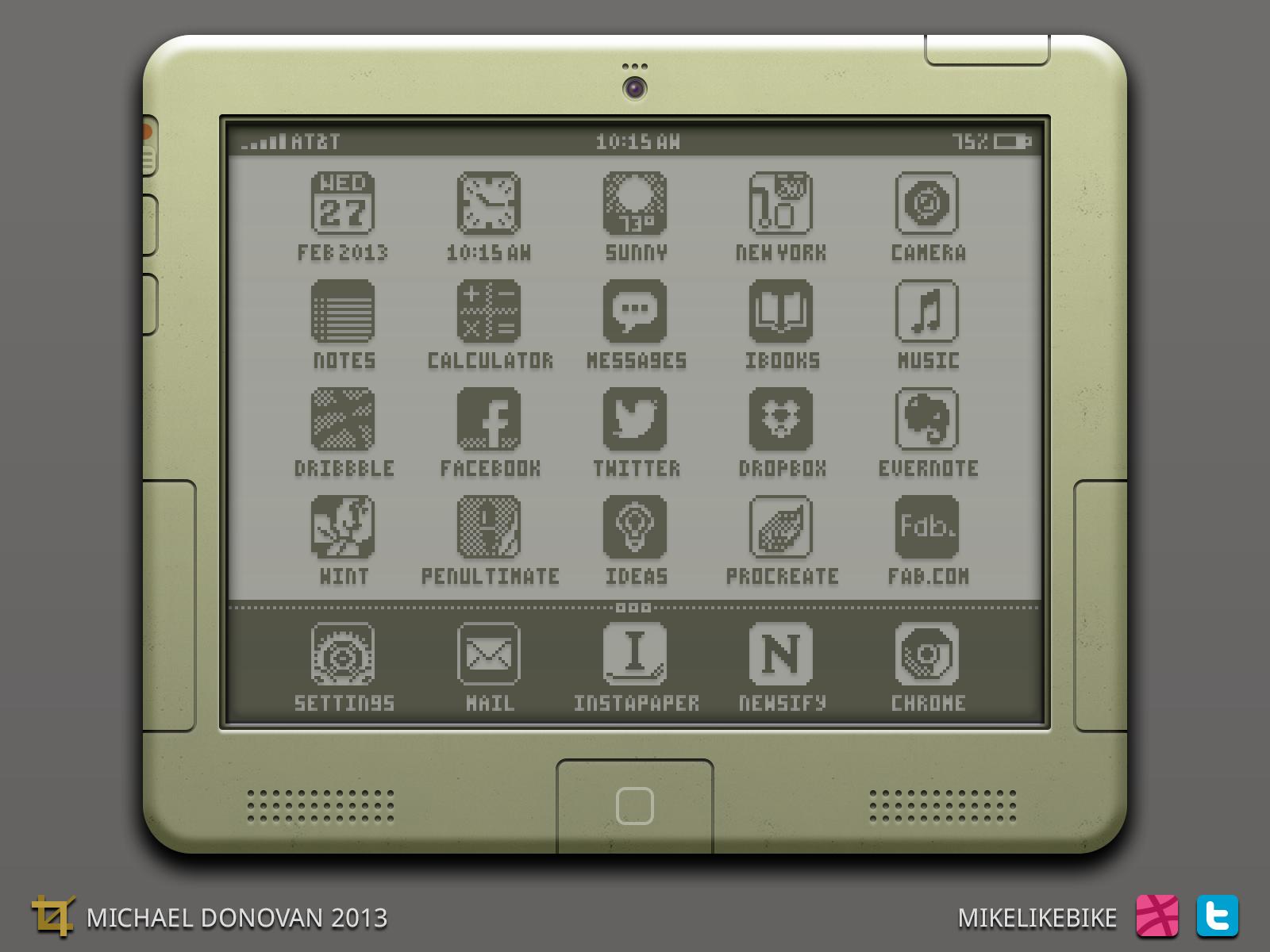 iPad na época do Newton