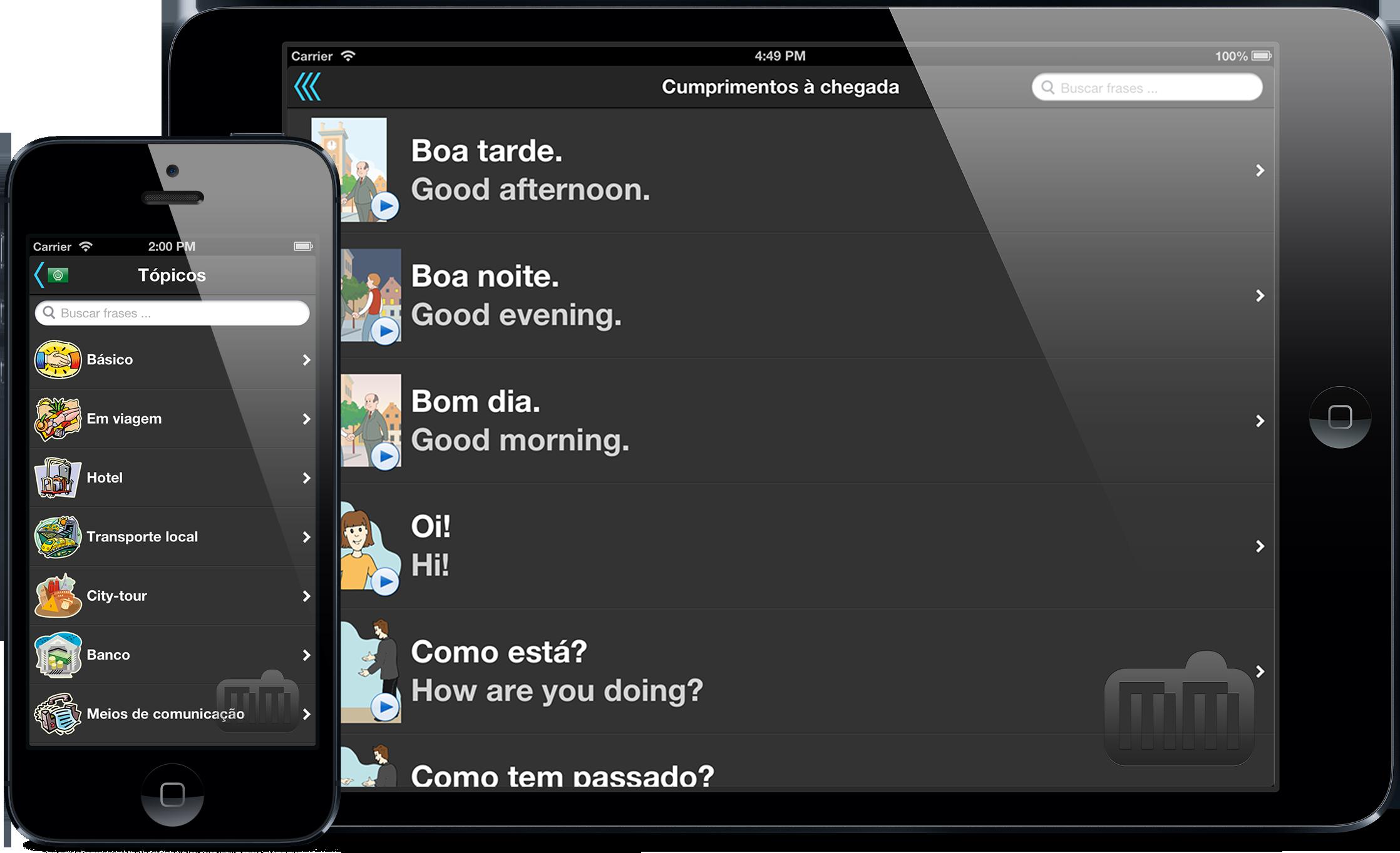 Tradutor de Viagem - iPad e iPhone