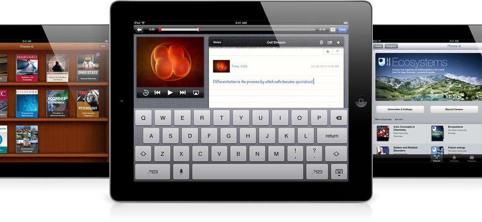 iTunes U em iPads