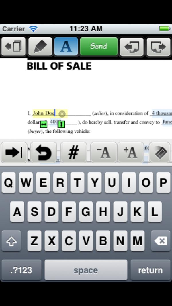 Type on PDF