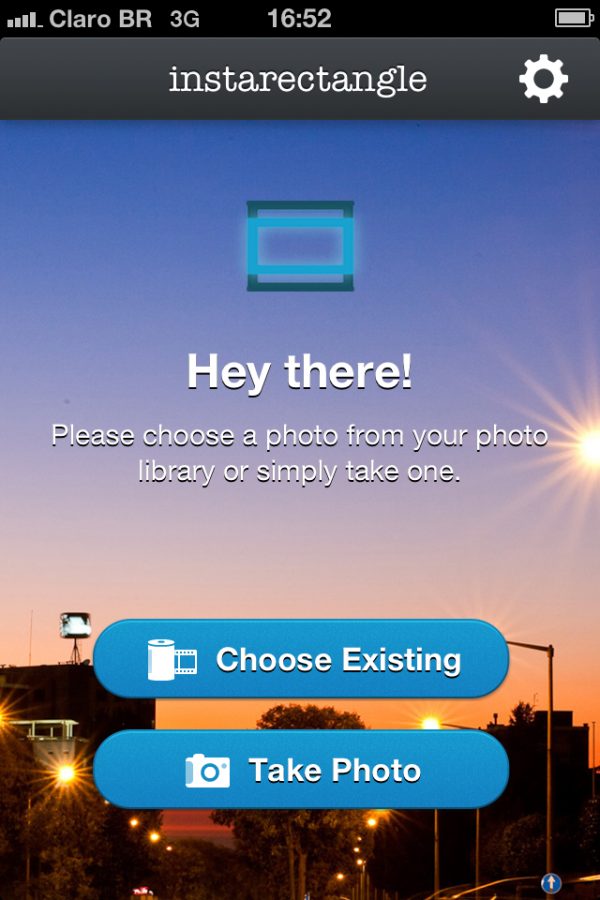 Screenshot do InstaRectangle