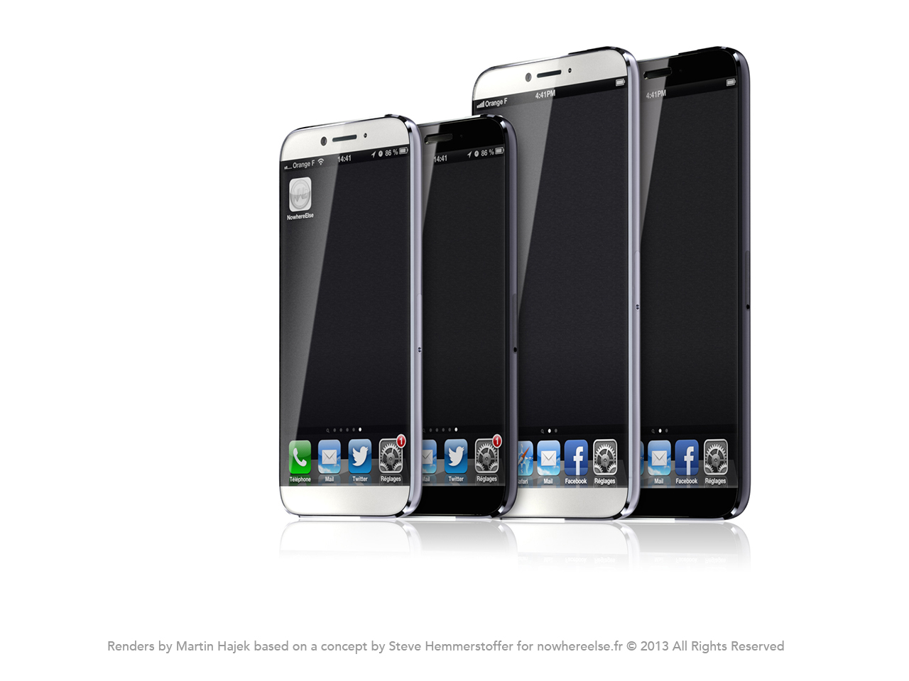 Mockup de iPhone com tela de 4,8 polegadas