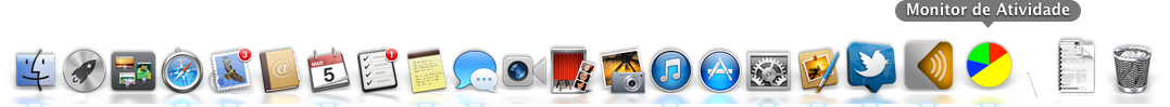 Ícone do Monitor de Atividade alterado no Dock