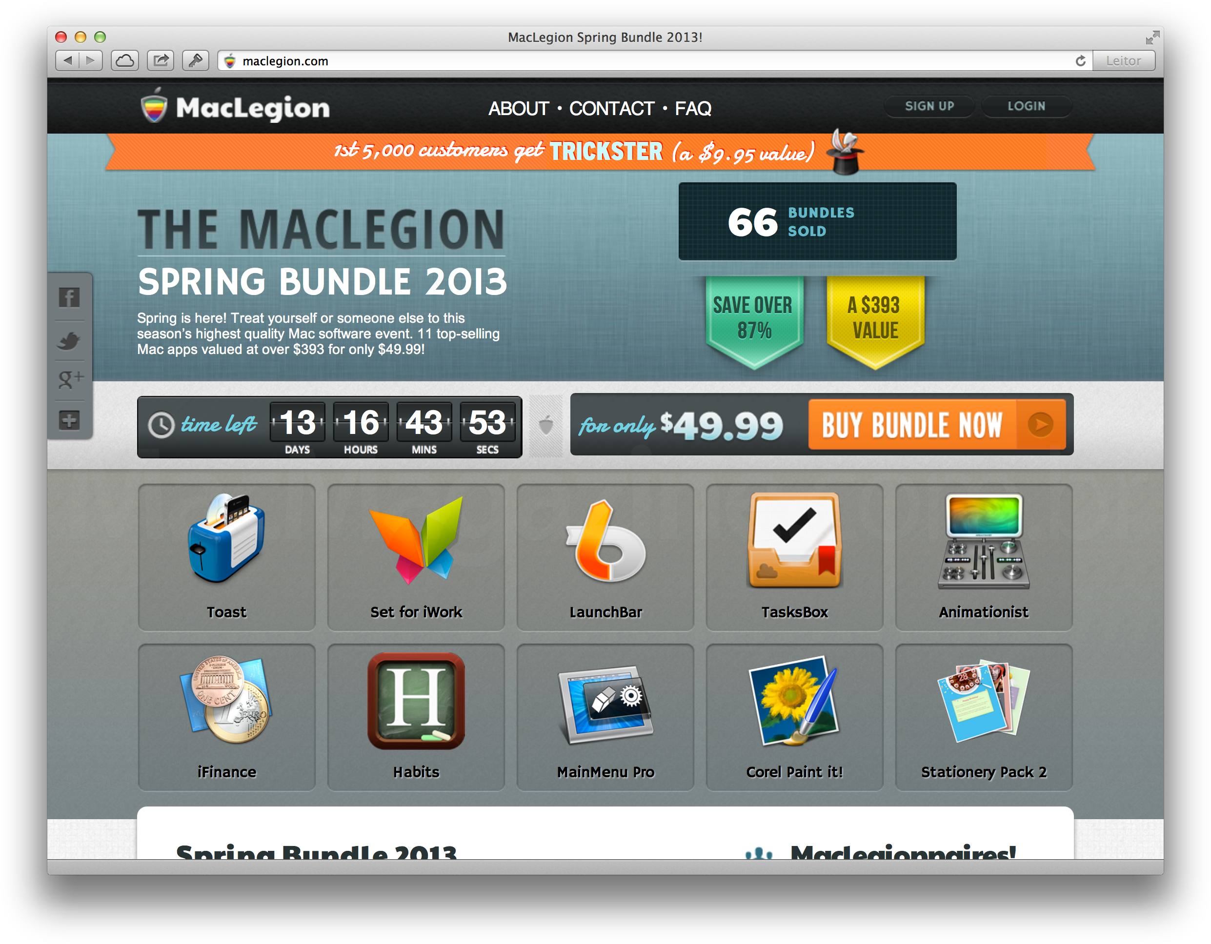 MacLegion Spring Bundle 2013