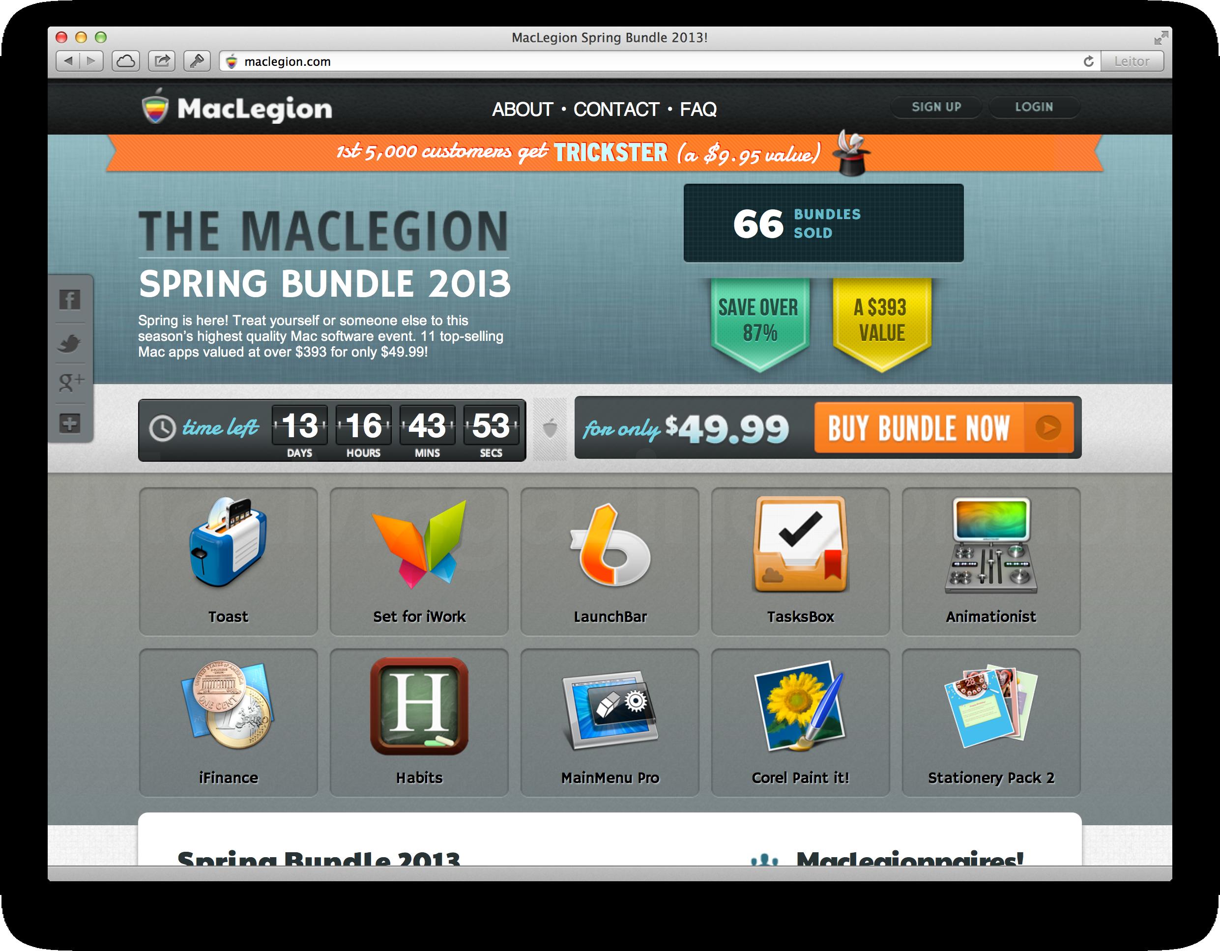 MacLegion Spring Bundle 2013