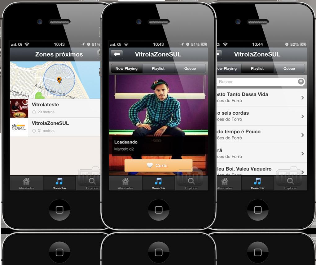 Vitrola em iPhones