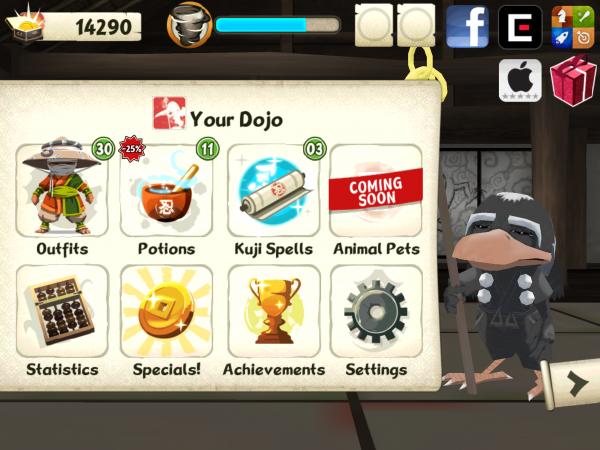 Screenshot do jogo Mini Ninjas para iOS
