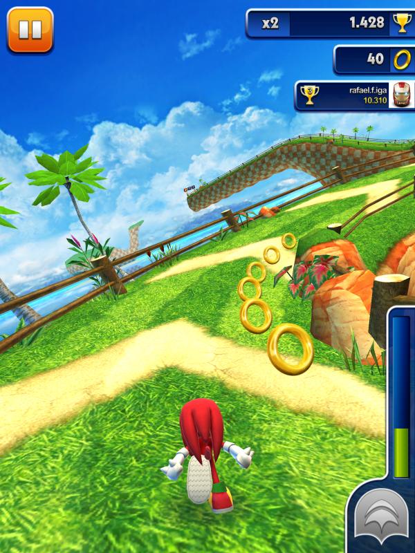 Screenshot do jogo Sonic Dash para iOS