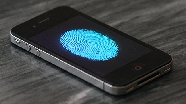 iPhone com sensor de impressões digitais