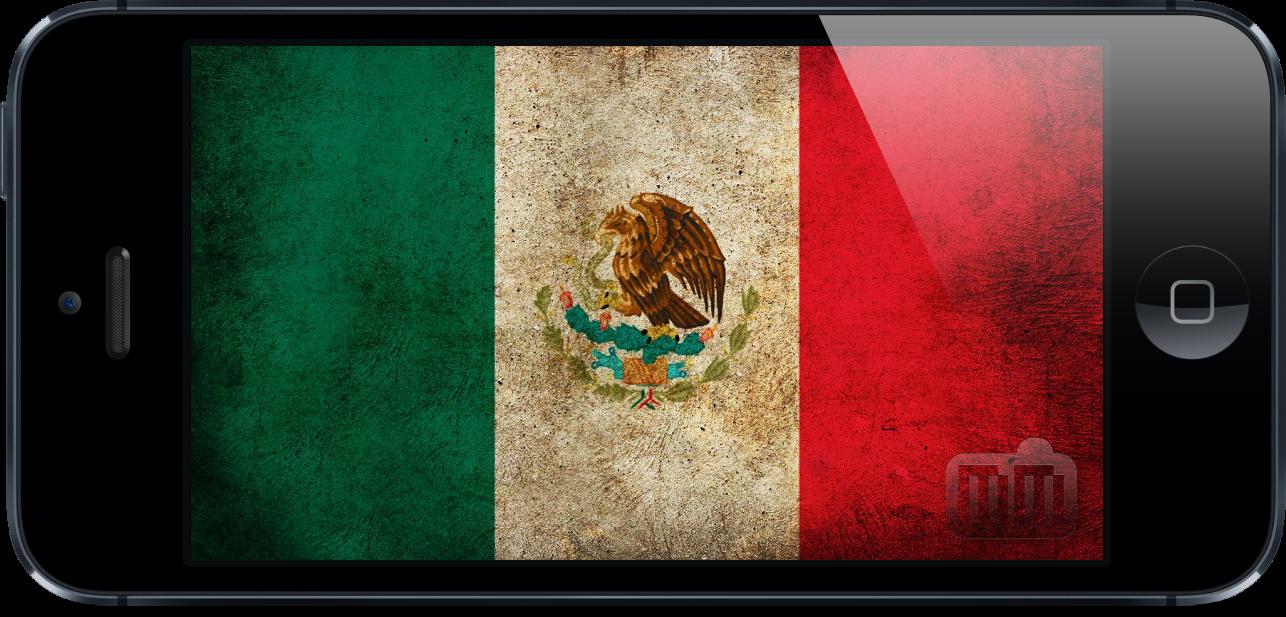 Bandeira do México dentro do iPhone