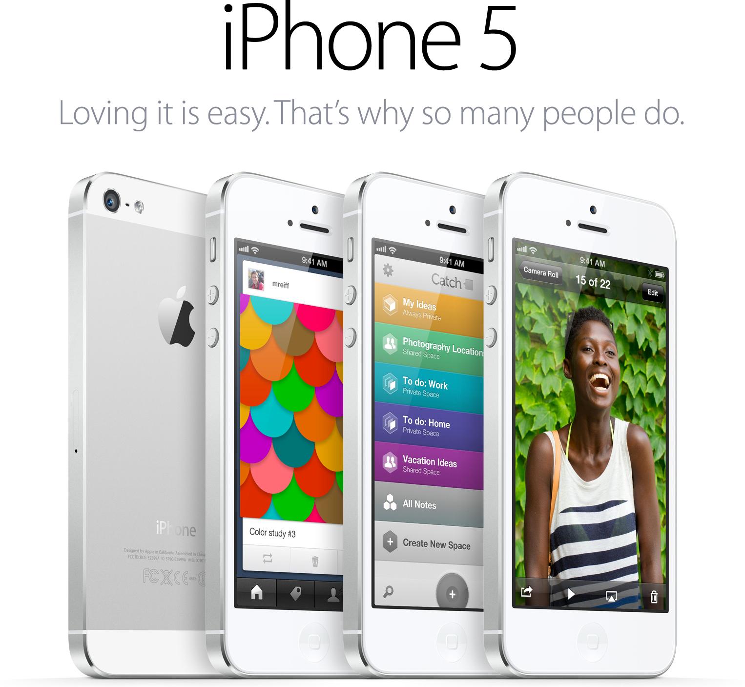 Novo slogan do iPhone 5