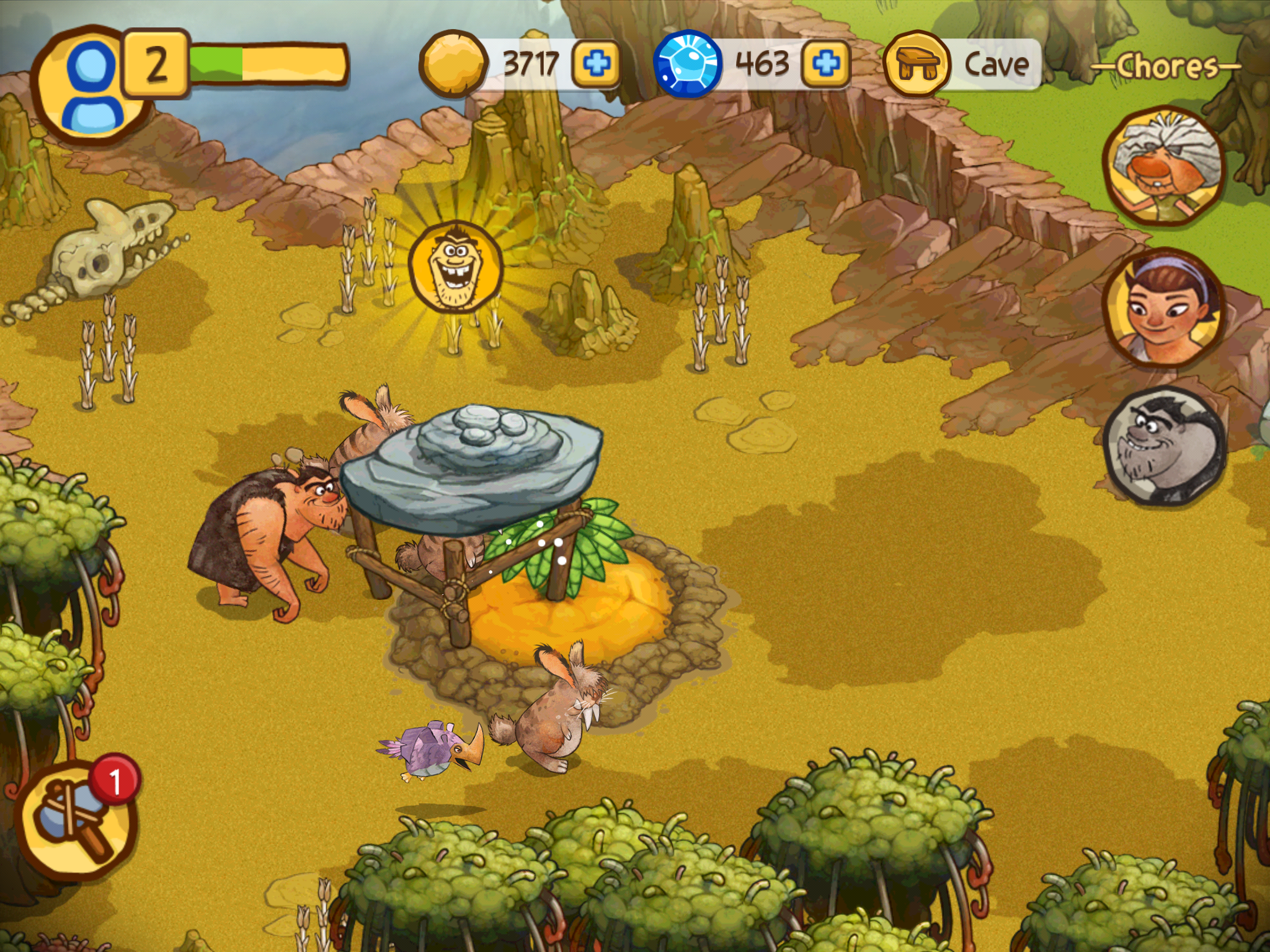 Screenshot do jogo The Croods