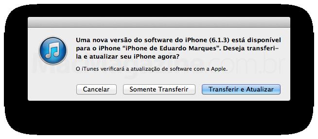 iOS 6.1.3 no iTunes