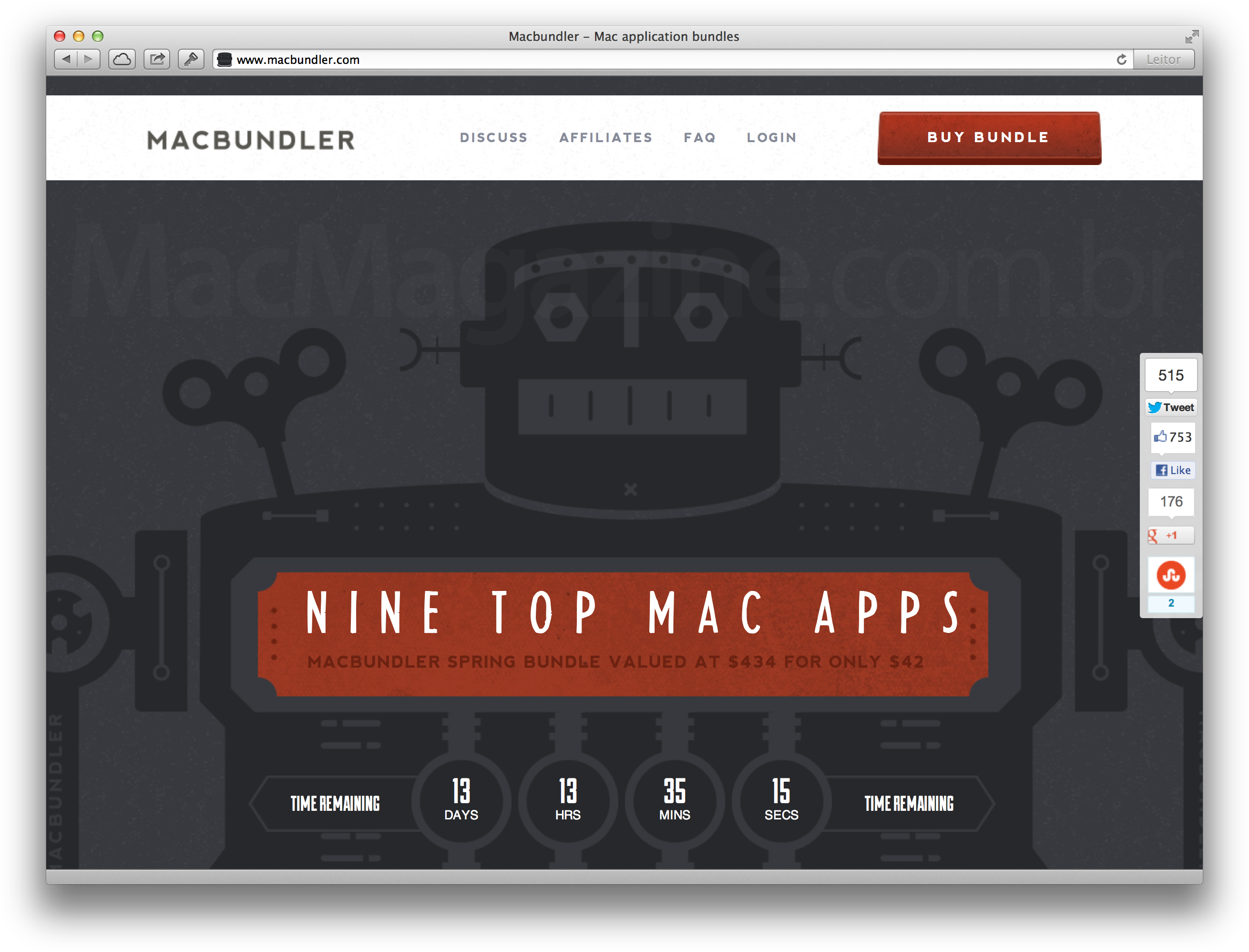 Macbundler no Safari