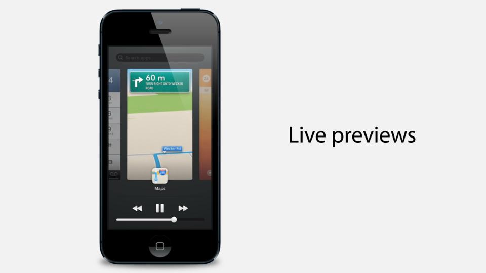 Conceito de troca de apps para o iOS