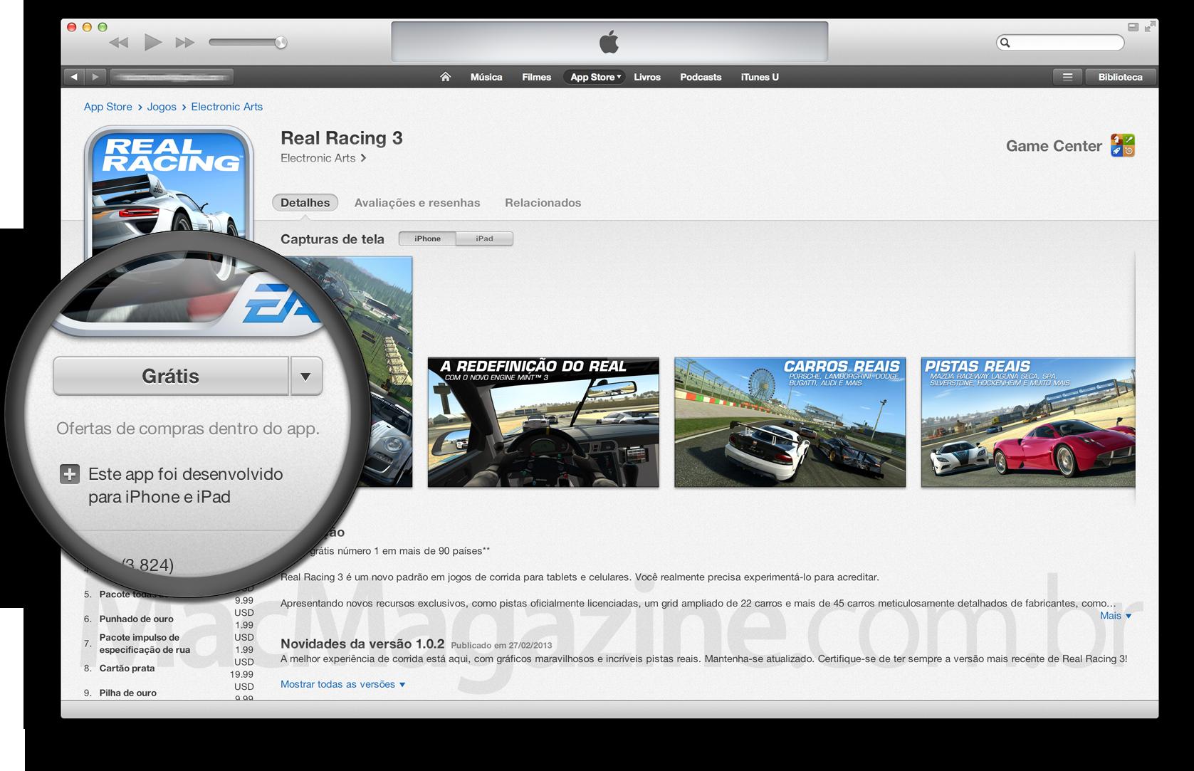 App gratuito com compra interna