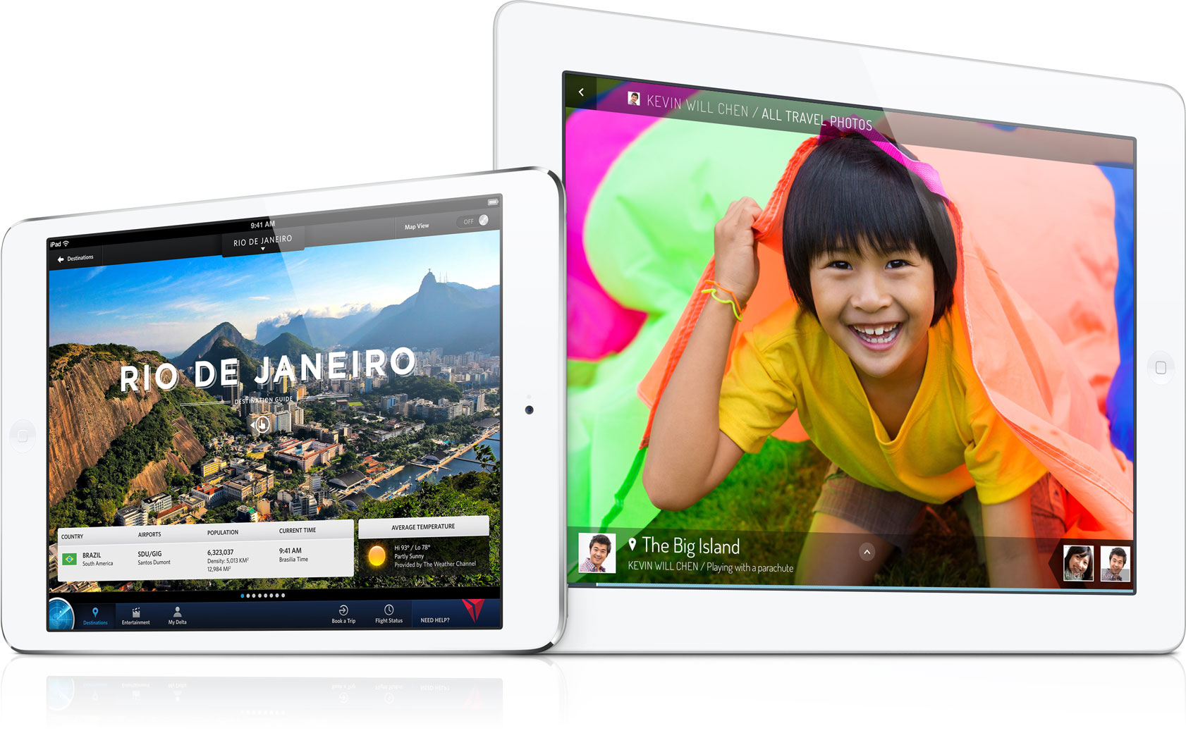 iPad divulgando o Rio de Janeiro