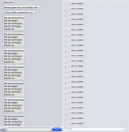 Spam via iMessage