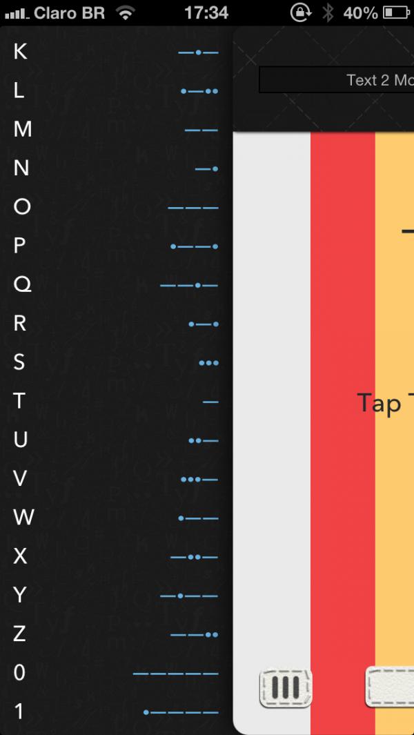 Screenshot do app Morsify