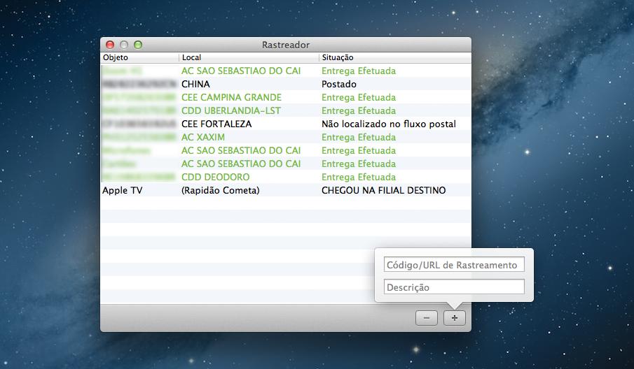 Rastreador - Mac OS X