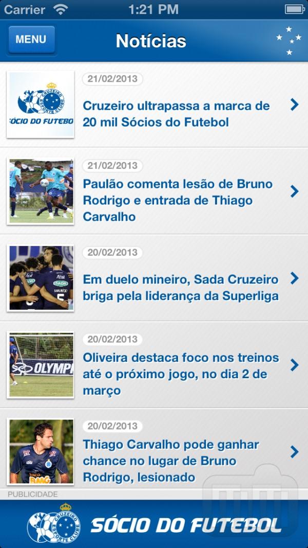 Aplicativo Cruzeiro Oficial