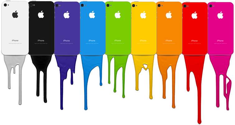 iPhones coloridos