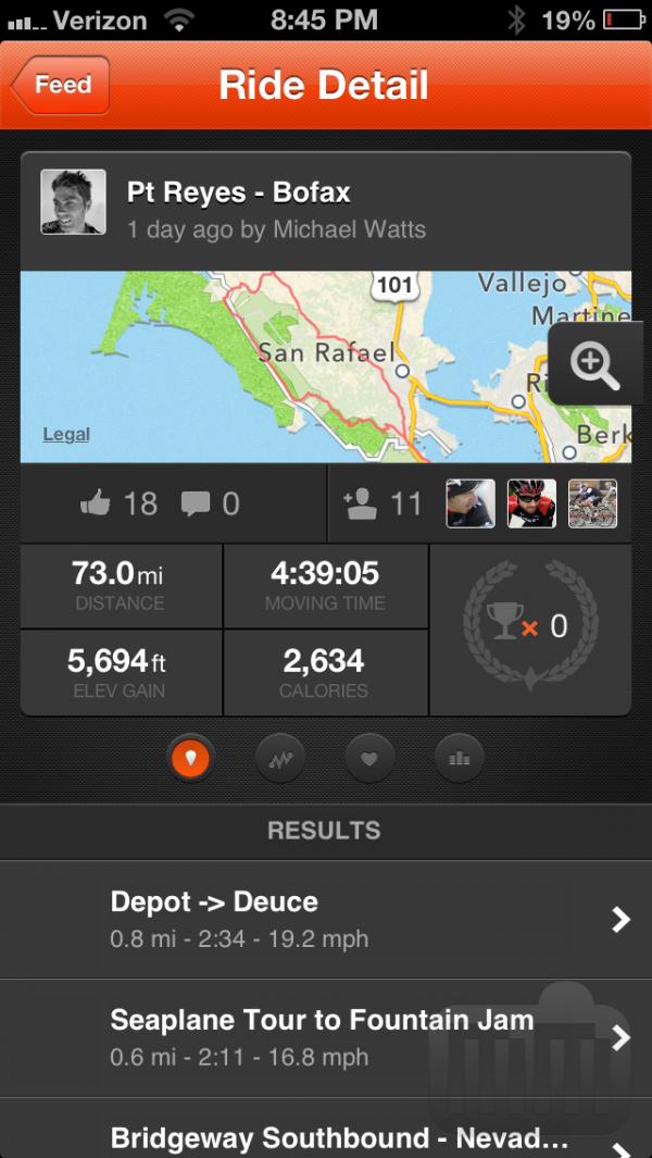 Aplicativo Strava Cycling