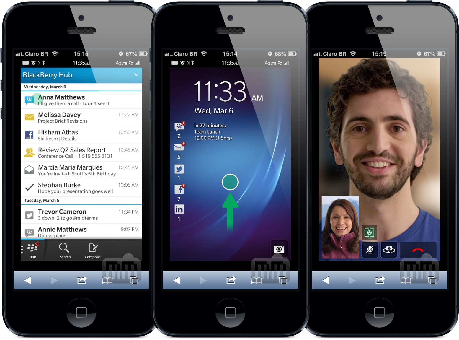 Simulador de BB10 rodando em iPhones