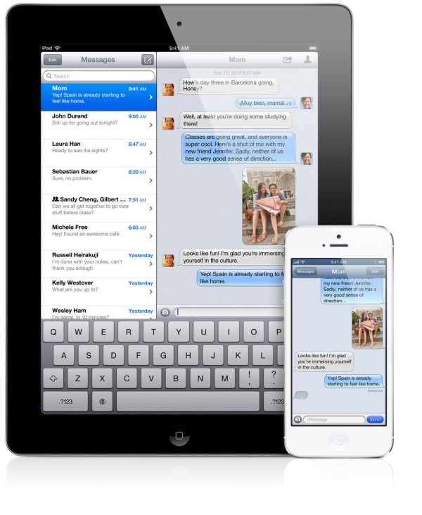 iMessage - iPad mini e iPhone 5