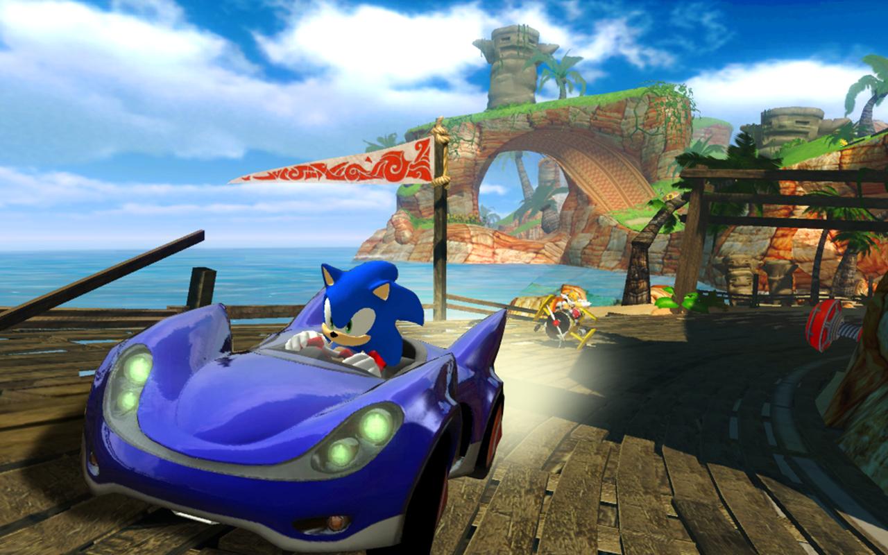 Screenshot do jogo Sonic & SEGA All-Star Racing para Mac
