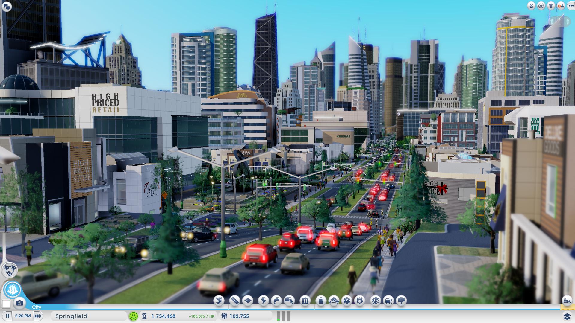 Screenshot do novo SimCity