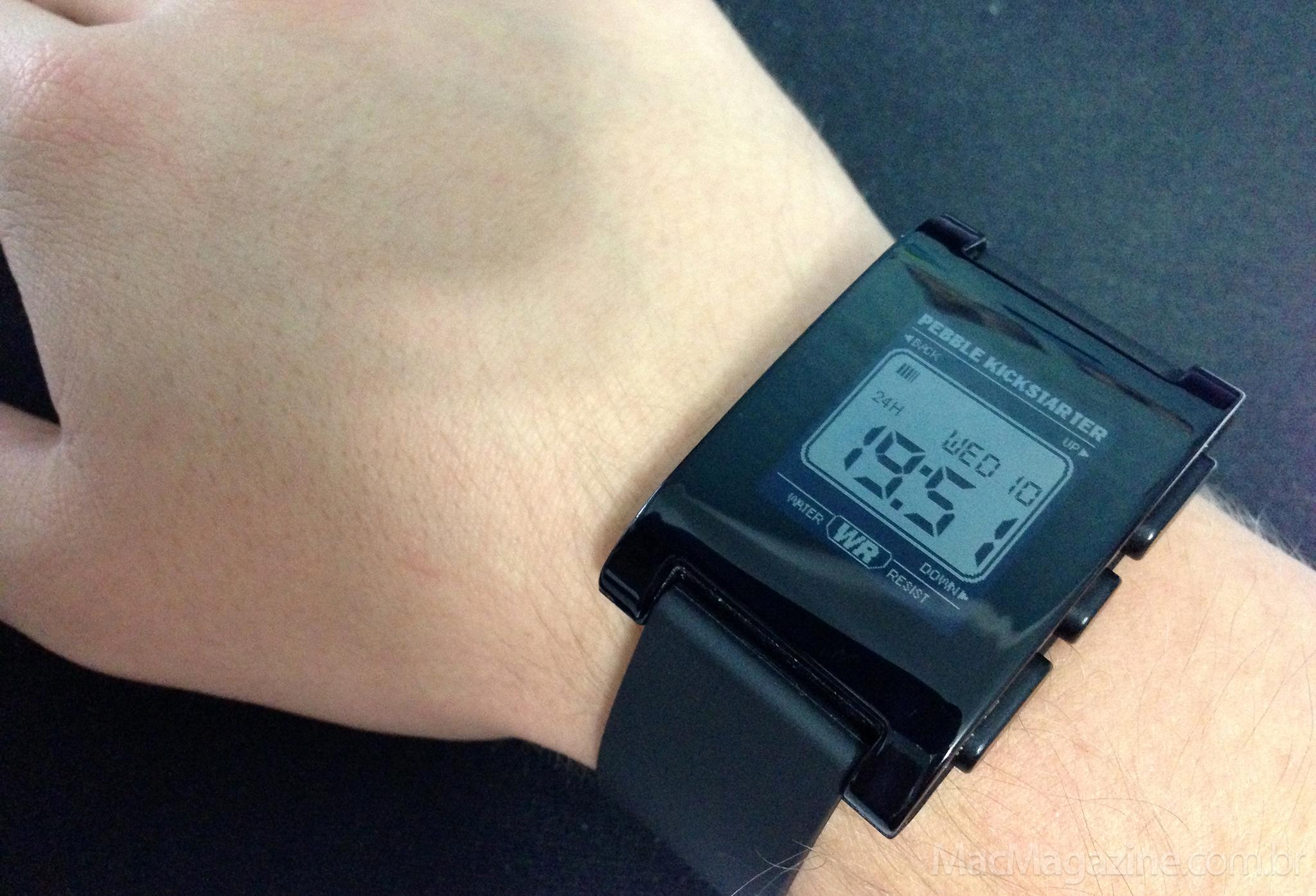Usando o smartwatch Pebble