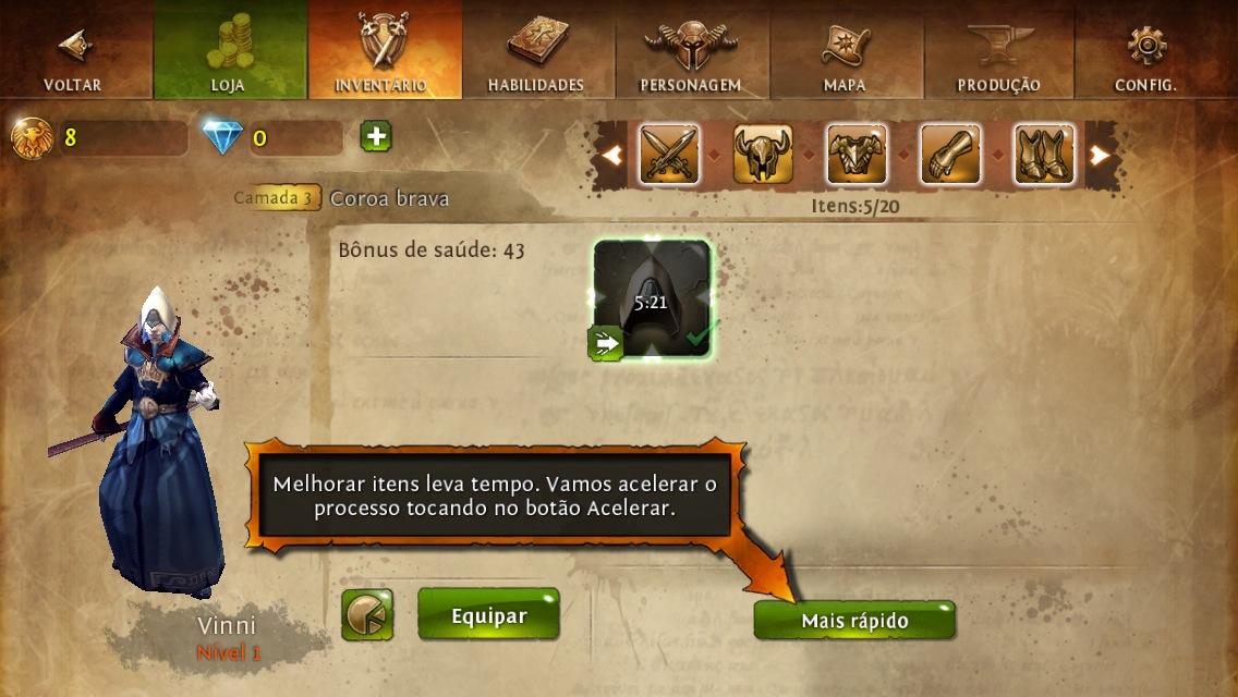 Screenshot do jogo Dungeon Hunter 4 para iOS