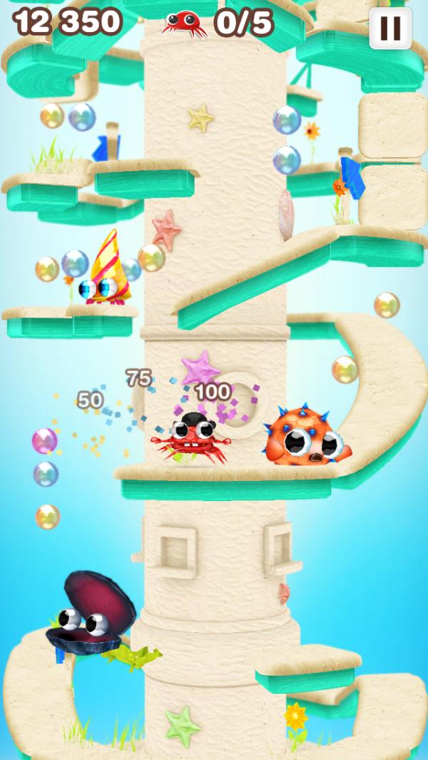 Screenshot do jogo Mr. Crab para iOS