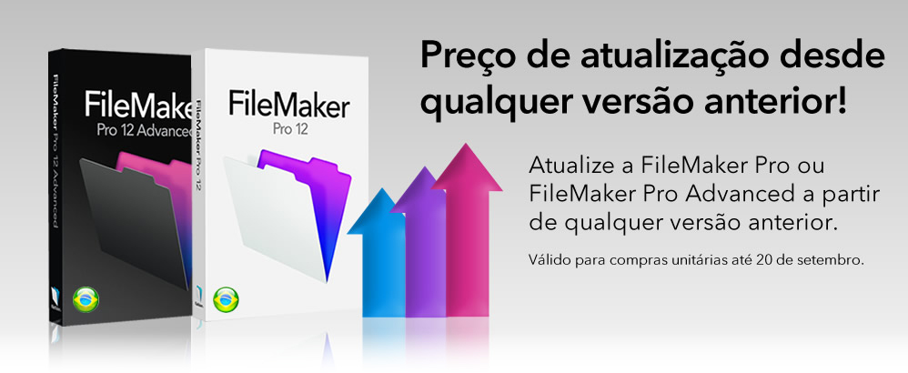 Upgrade para o FileMaker Pro 12