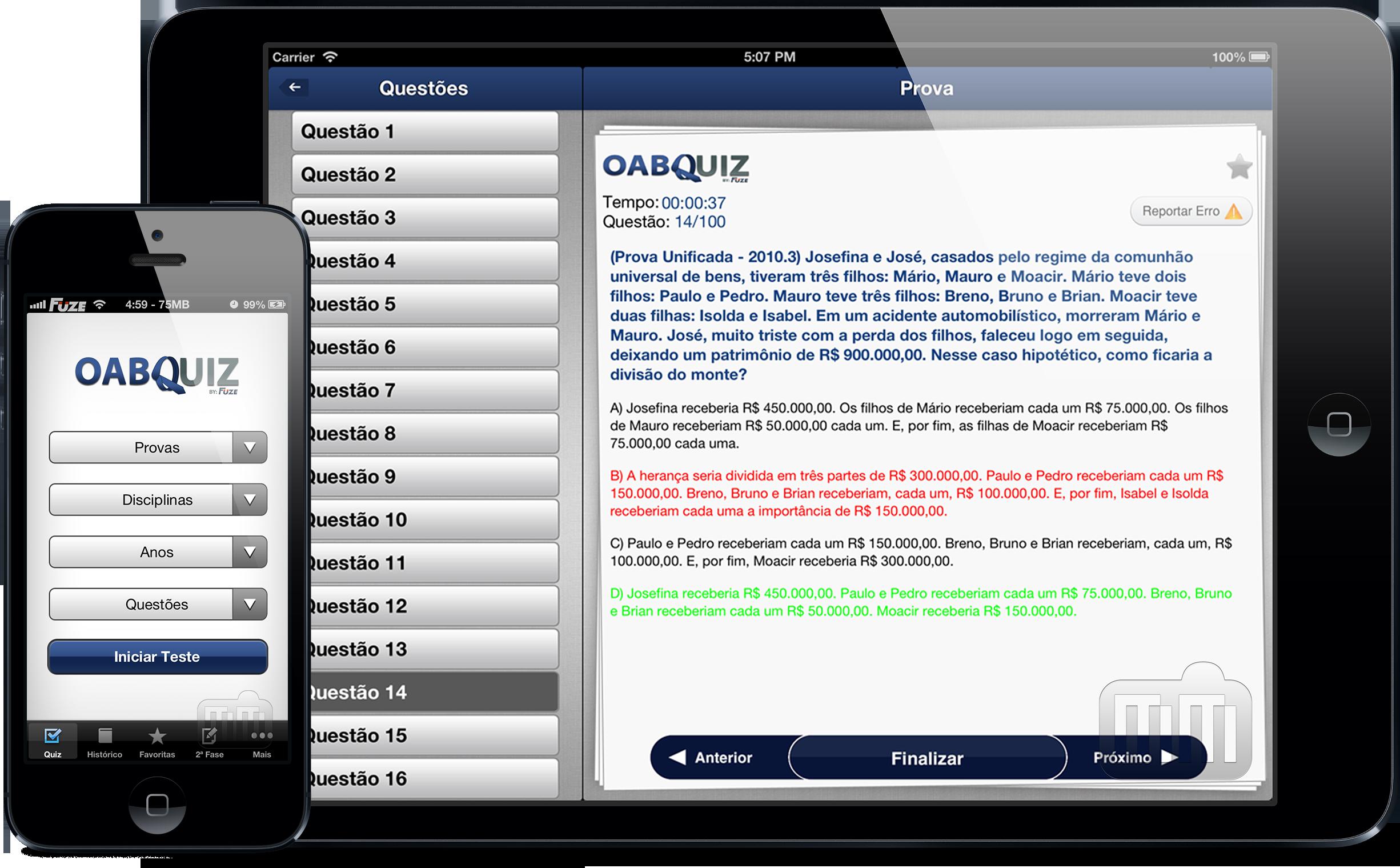 OABQuiz - iPhone e iPad