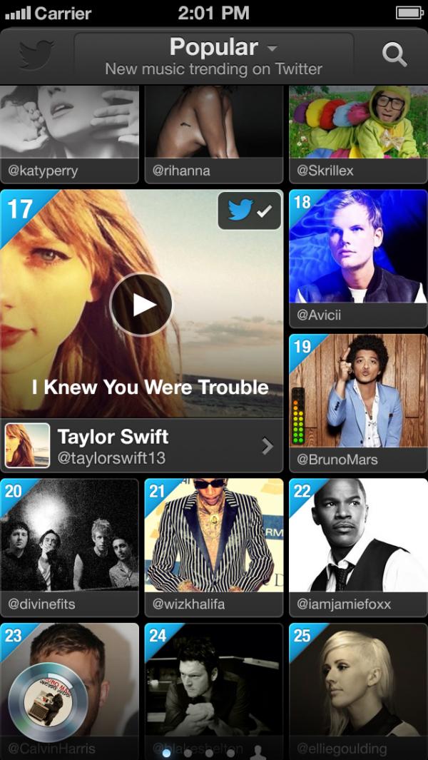 Twitter #music - iPhone
