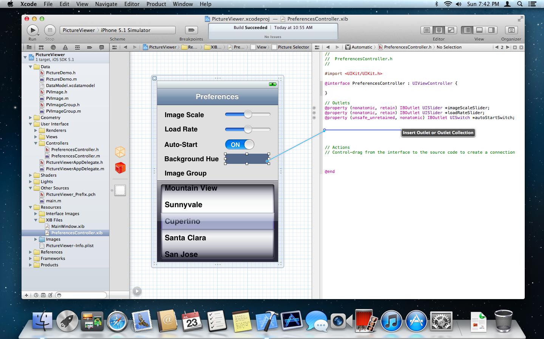 Screenshot do Xcode