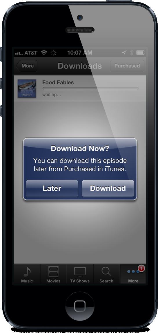 Recurso de download depois (download later)