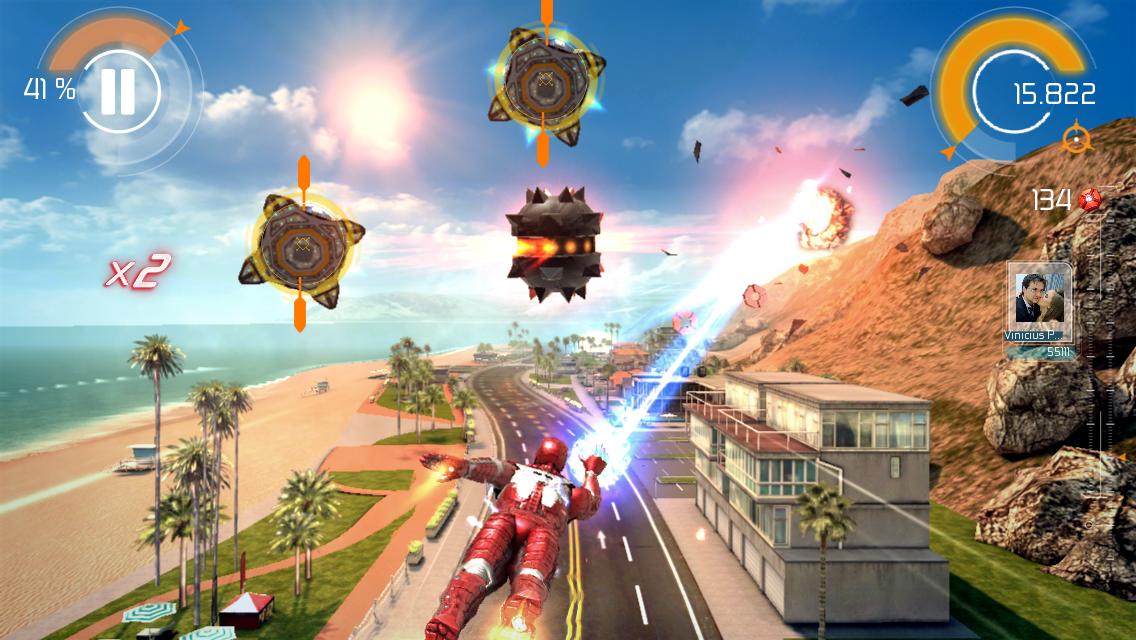 Screenshot do jogo Homem de Ferro 3 para iOS