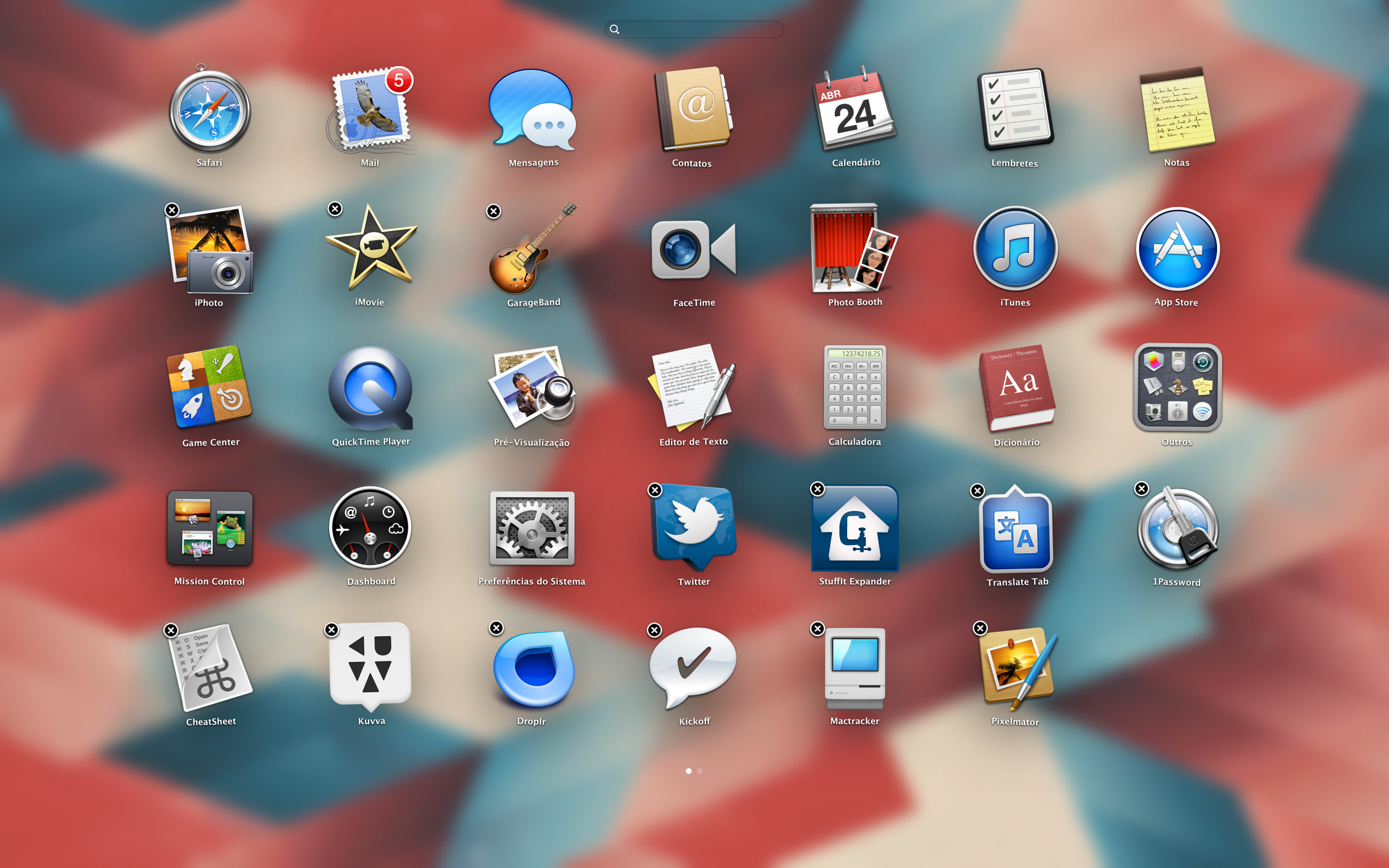 Apagando apps pelo Launchpad